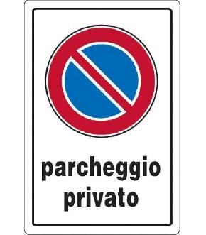 TARGA SEGNAL.PARCHEGGIO PRIVATO