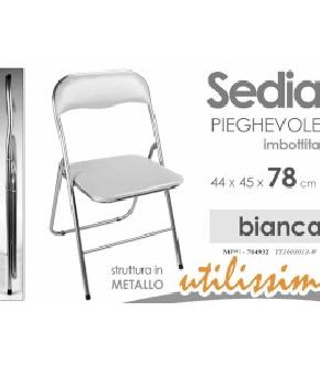 SEDIA BIANCA 44X45X78 CM