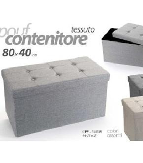 POUFF TESSUTO 80X40 CM