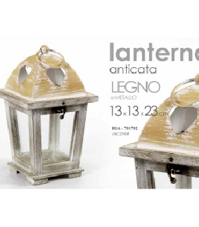 LANTERNA ANTICA 13X13X23CM