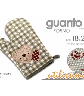 KTX/GUANTO FORNO CUORE ASS 18*28  KTX-11