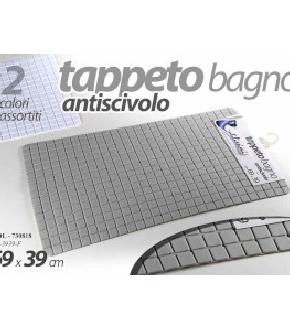 TAPPETO ANTISCIVOLO 69X36 CM ASS