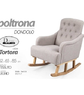 POLTRONA DONDOLO TORTORA 62X65X85