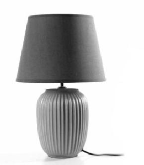 LAMPADA GRIGIA 28X28X43CM