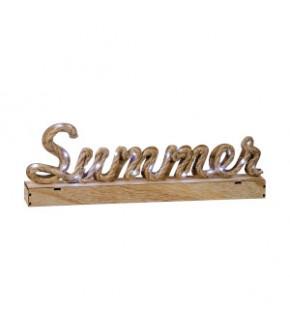 DECORAZIONE LEGNO SUMMER 30LED A3C 45X6X15H