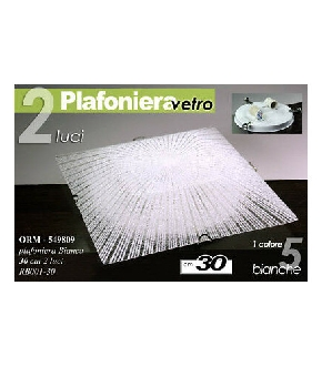 ORM/PLAFONIERA BCA 2LUCI 30CM   RB001/30