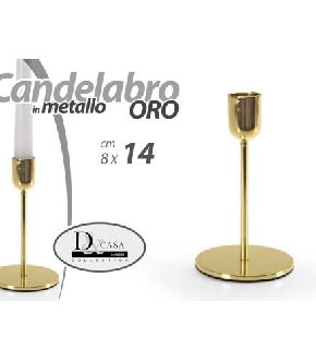 FYF/CANDELABRO ORO 8*14CM  CH-31675-14-G
