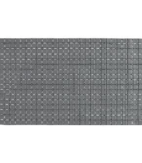 TAPPETO ANTISCIVOLO IN PVC MOSAICO GRIGIO 40X70
