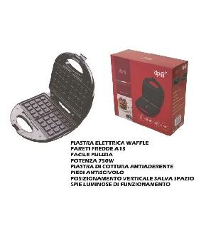 PIASTRA ELETTRICA WAFFLE 750W EDO RI